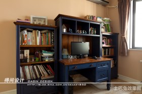 欧式风格电脑桌书房设计效果图