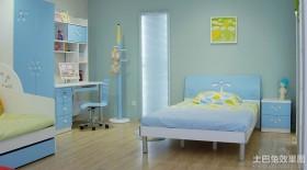 儿童房卧室书房一体设计效果图