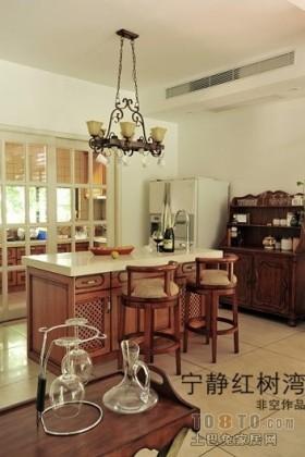 东南亚风格厨房吧台效果图