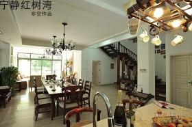 东南亚风格餐厅吊顶效果图欣赏