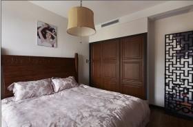 现代中式卧室板式家具衣柜图片