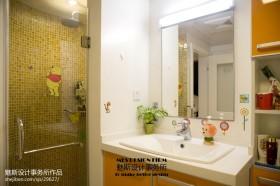 现代风格卫生间洗手台装修效果图