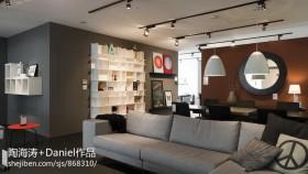 现代风格客餐厅背景墙效果图