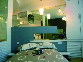 单身公寓样板房小户型现代卧室设计图片