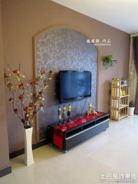 2013客厅电视背景墙墙纸图片