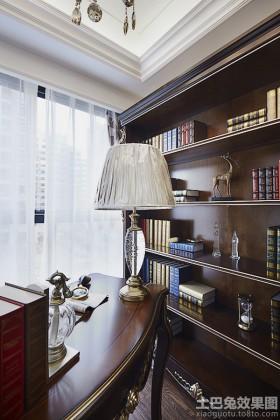 欧式书房书架图片