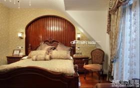 美式10平米卧室板式家具床图片