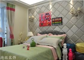 别墅卧室软包背景墙效果图欣赏