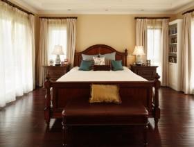 美式风格卧室板式家具床图片