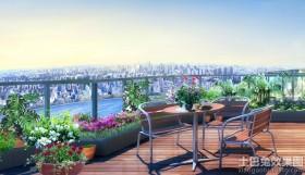 露天阳台花园家庭园艺效果图