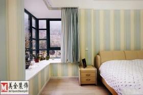 田园风格卧室飘窗效果图欣赏