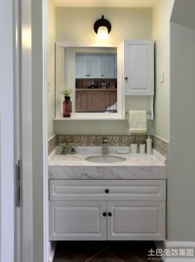 简约欧式卫生间洗手台装修效果图