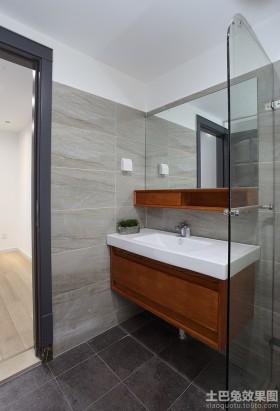 现代卫生间洗手台装修效果图片