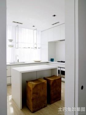 白色调小厨房装修效果图