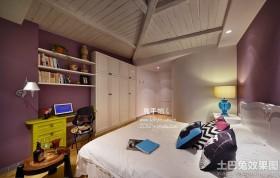 阁楼卧室书房一体设计