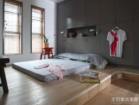 最新现代风格卧室榻榻米床效果图