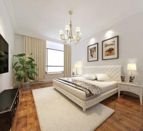 简约70平米小户型卧室吊灯效果图