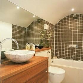简约卫生间瓷砖效果图图片