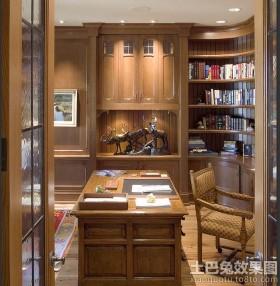 欧式书房室内装修设计效果图