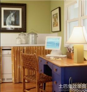 室内书房电脑桌装修效果图