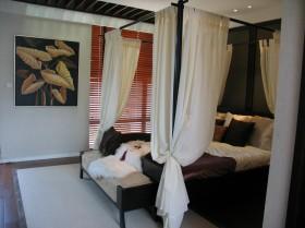 东南亚卧室实木床图片
