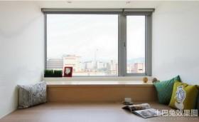 现代简约客厅飘窗效果图