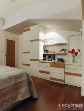 阁楼卧室实木柜装修效果图