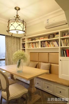 欧式开放式书房壁柜装修效果图