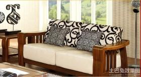 客厅木沙发图片