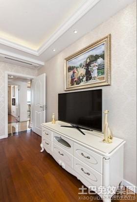 风格电视背景墙欧式电视柜装修效果图