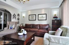 简约美式客厅装修效果图大全2013图片