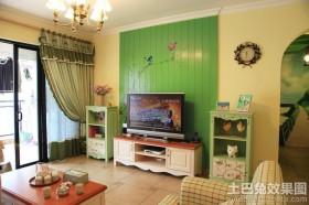 田园风格电视墙装修效果图大全图片