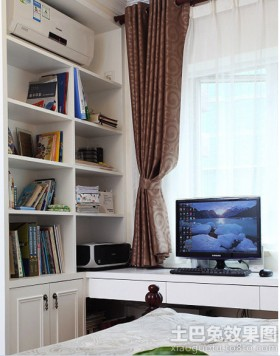 简装修小书房效果图