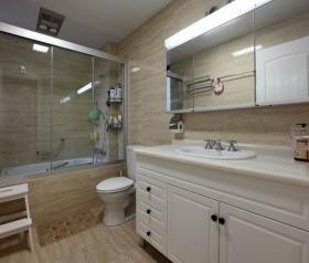 家装卫生间欧式浴室柜装修效果图