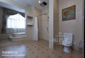 卫生间淋浴隔断墙图片