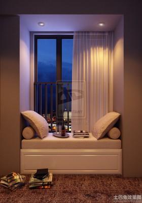 阳台飘窗窗帘装修效果图片大全