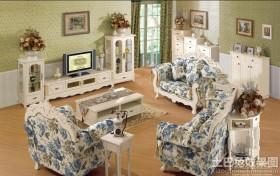 欧式田园风格客厅沙发家具图片