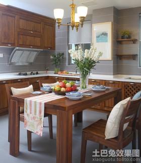 美式厨房中岛餐桌