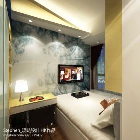 小卧室电视背景墙壁纸图片