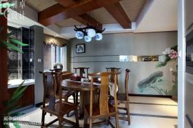 中式餐厅吊顶装修效果图片大全