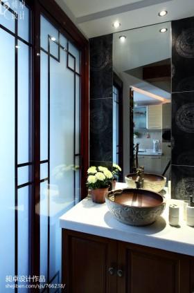 中式洗手台装修效果图欣赏