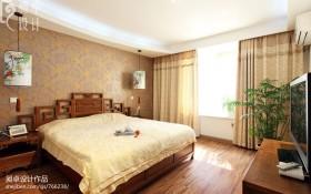 10平米中式卧室装修效果图大全2013图片