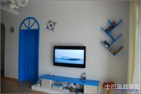 地中海电视背景墙效果图