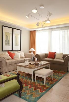 现代简约客厅吊灯图片欣赏