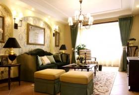 美式风格客厅实木家具图片欣赏