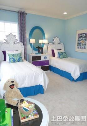 简约双胞胎儿童房装修效果图欣赏