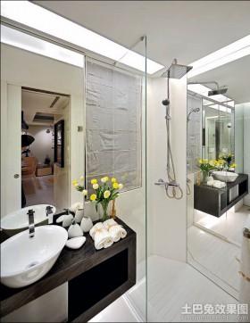 现代卫生间洗手台面设计效果图