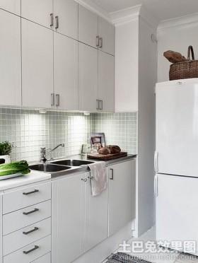 厨房白色橱柜设计图