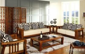 中式实木沙发图片大全