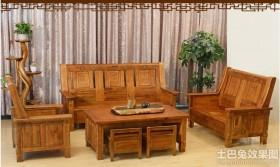 办公实木沙发图片